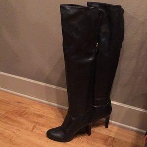 NEW Nine West over the knee black boots sz9